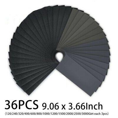 Ebay Advertisement 36 Pcs Sandpaper Sheet Assortment Abrasive Grit Sanding Polishing Paper Wet Dry In 2020 Sand Paper Art Dry Sand Wet And Dry