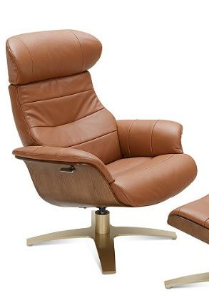 Designer Recliner Features Mid Century Styling With Plush