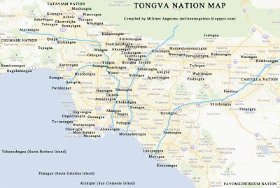 Tongva Nation Map In 2020 Village Map Map Los Angeles