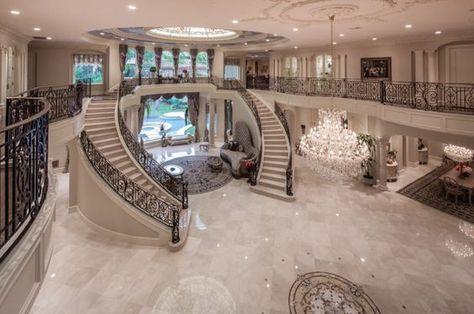 Homes Mansions: Mediterranean Mansion In Houston, TX - Luxury Homes Dream Home Design, My Dream Home, House Design, Dream Mansion, Mansion Houses, Luxury Homes Dream Houses, Luxury Homes Interior, Modern Mansion Interior, Luxury House Plans