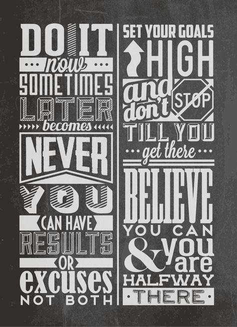 Chalk Typographic Motivational Quotes on Behance