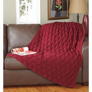 Crimson Comfort Knit Throw....Lacy textures adorn this soft, cozy throw