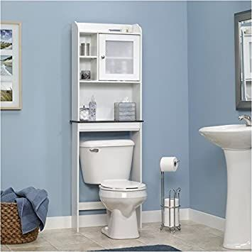 Pemberly Row Over The Toilet Etagere Space Saver Bathroom Cabinet With Adjustable Shelf In So In 2020 Bathroom Space Saver Toilet Storage Bathroom Storage Over Toilet