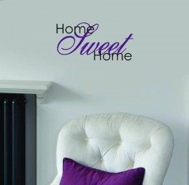 Muursticker Home Sweet Home.Pinterest Pinterest