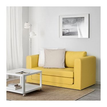 Askeby Grasbo Golden Yellow 2 Seat Sofa Bed Ikea Sofas For Small Spaces Sofa Bed Ikea Sofa Bed