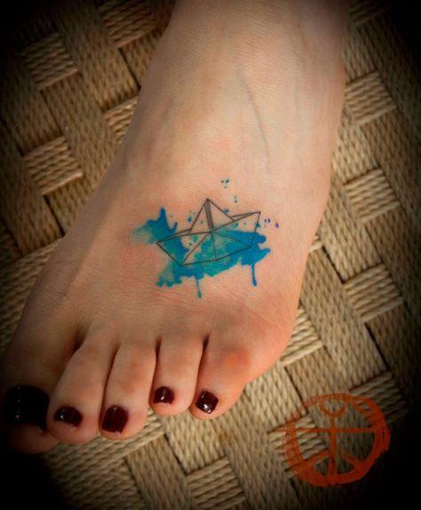 54 Best Ideas Origami Boat Tattoo Simple