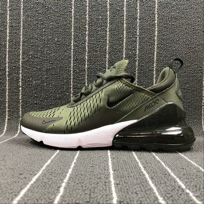 Mens Nike Air Max 270 Flyknit Army Green White AH8050 300 Running Shoes ah8050 300