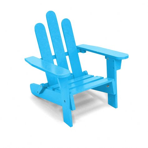 Kids Adirondack Outdoor Chair Blue Plastic Adirondackchairs