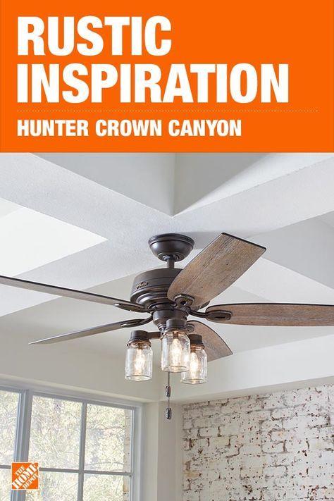 Hunter Crown Canyon 52 In Indoor Regal Bronze Ceiling Fan 53331