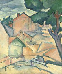Georges Braque (1882-1963) Maisons à L'Estaque Price realised GBP 1,072,000 Estimate GBP 800,000 - GBP 1,200,000