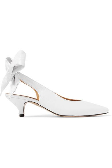 leather Tie-fastening slingback strap