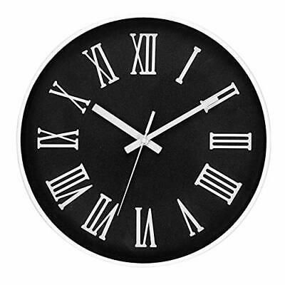 12 Inch Silent White Round Wall Clocks Decorative Roman Numeral Clock Wall Clocks Ebay Link In 2020 Wall Clock Roman Numeral Clock Clock
