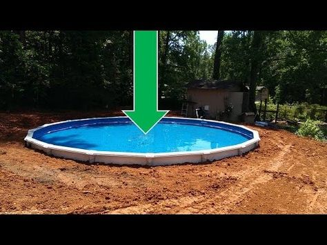 dropping an above ground pool in the ground the details home improvement pinterest ground pools drop and backyard
