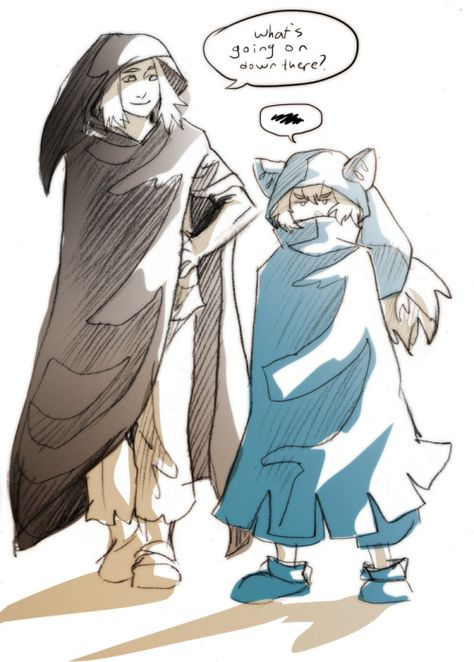Was chatting about wakfu with some people and speculating about just how much taller than yugo chibi would grow up to be