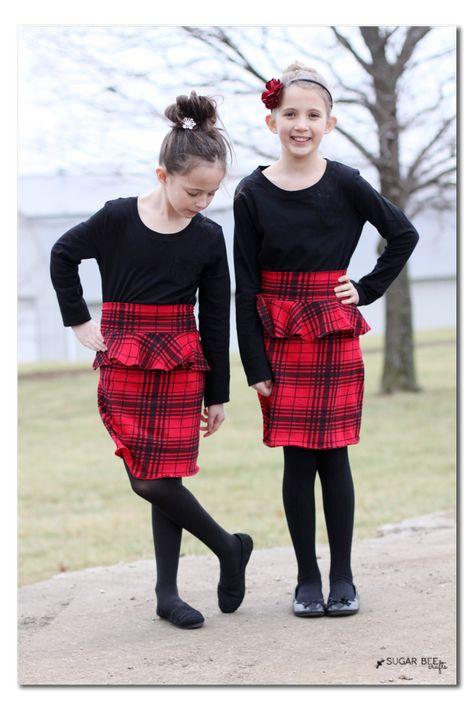 Holiday Girls Knit Peplum Skirt