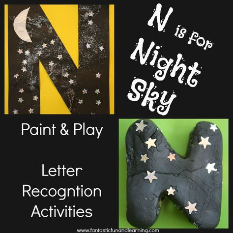 Night Sky Letter Recognition Activities at Fantastic Fun & Learning (Goodnight Moon)