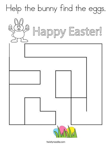 Help The Bunny Find The Eggs Coloring Page Twisty Noodle Easter Coloring Pages Coloring Pages Coloring Eggs