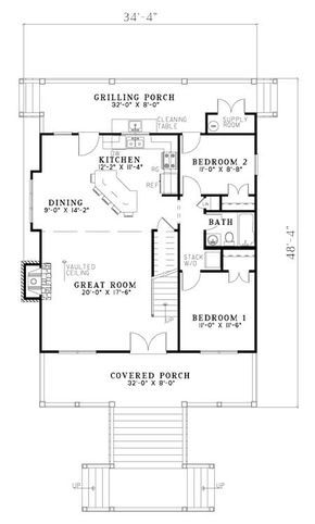 House Plan 110 00960 Cape Cod Plan 1 544 Square Feet 3 Bedrooms 2 Bathrooms Country Style House Plans Farmhouse Style House Plans Country Farmhouse House Plans