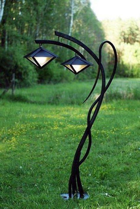 Garden Lanterns, Garden Lamps, Garden Lamp Post, Landscape Lighting, Outdoor Lighting, Outdoor Lantern, Lighting Ideas, Unique Lighting, Outdoor Art