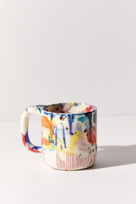 Shop btw Ceramics Wacky Mug at Urban Outfitters today. Pottery Painting, Ceramic Painting, Ceramic Artists, Pottery Mugs, Ceramic Pottery, Thrown Pottery, Slab Pottery, Ceramic Mugs, Ceramic Bowls