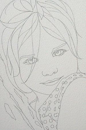 Dessins Et Aquarelles Pas A Pas Portrait D Enfant N 8 Kresby