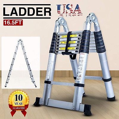 Ad Ebay 16 5ft Multi Purpose Aluminium Foldable Telescopic Ladder Extension Extendable Telescopic Ladder Ladder Multi Purpose Ladder