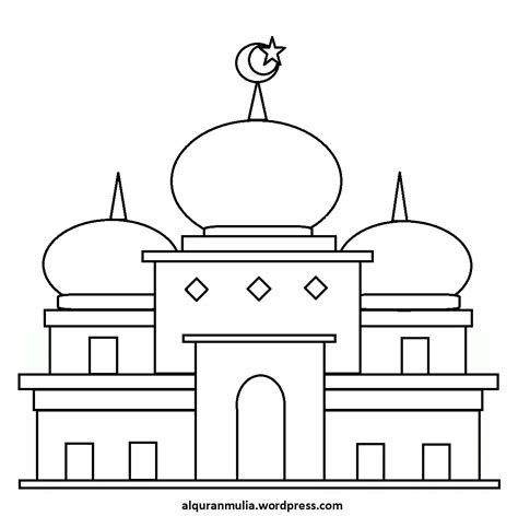 Gambar Masjid Sketsa Di 2020 Sketsa Gambar Kartun