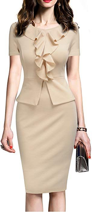 Amazon Com Rephyllis Women S Vintage One Piece Office Wear To