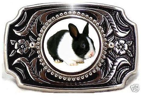 RABBIT HARE FFA WESTERN BUNNY  4 H CASUAL  BELT BUCKLE