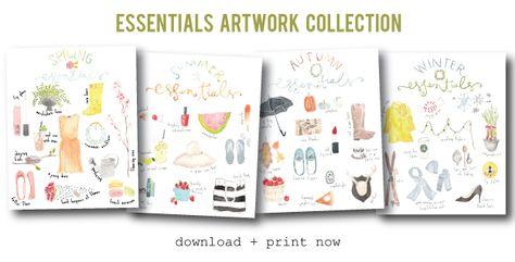 seasons essentials (freebie art print)