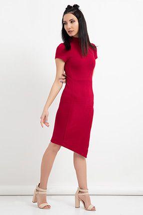 Ela 58712 Yarim Kol Yirtmacli Elbise Moda Stilleri Dress Up Kadin