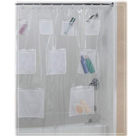Pockets Clear Vinyl Shower Curtain Maytex Https Www Amazon Com