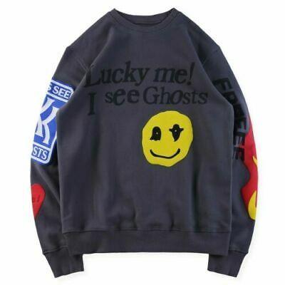 Ebay Sponsored Ksg Freeee Kanye West Kid Cudi Kids See Ghosts Sweatshirt Kendall Jenner Smile Kanye West Kids Kid Cudi Tech Fleece Hoodie