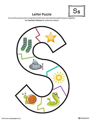 Letter S Puzzle Printable Color Alphabet Worksheets Preschool Kids Worksheets Preschool Beginning Sounds Worksheets S sound worksheet
