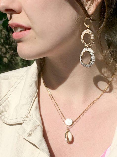 Nouveau Femmes Bijoux Argent Sterling 925 Blanc Shell Pearl Fashion Dangle Earrings