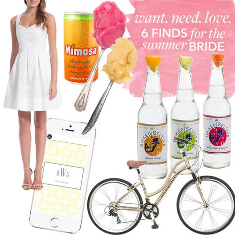 Brides: Want, Need, Love: 6 Fun Finds for the Summer Bride