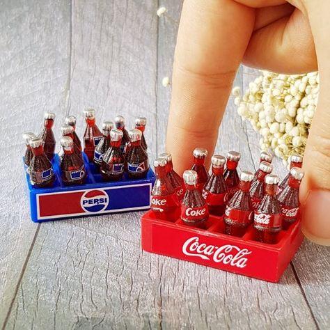 24 Pc Dollhouse Miniature Pepsi Cola Soda Bottle Soft Drink 1:6th Scale