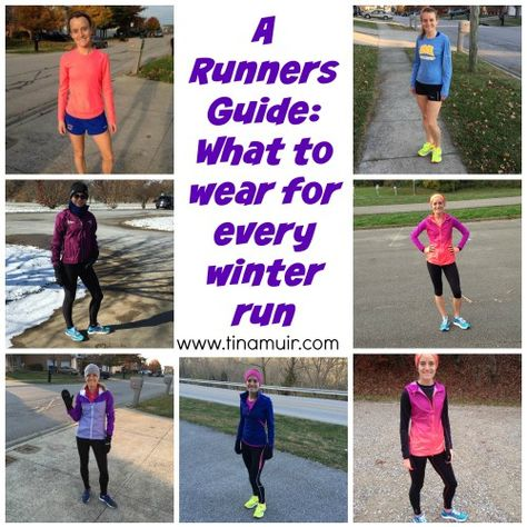 18e9434678406 A runners guide: What to wear for every winter run. This is so helpful to  know what the elites wear for each winter run!