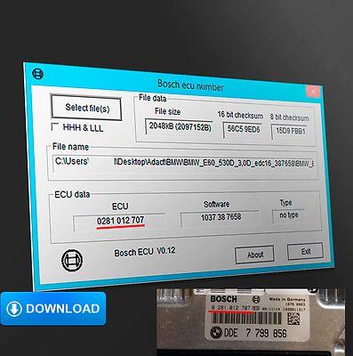Bosch Ecu Number Show Indentification Number Of Ecu Checksum Auto Onderhoud Auto