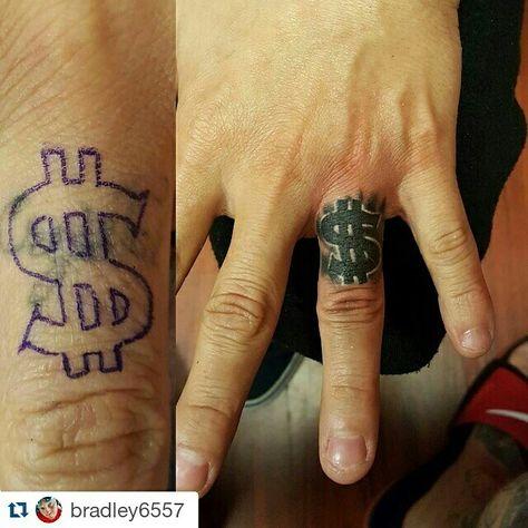 Money tattoo fix up by Bradley