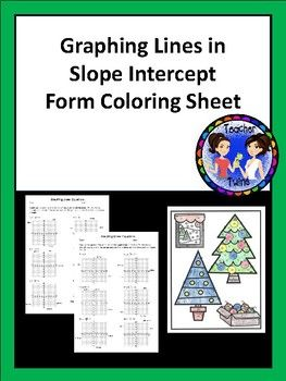 This Activity Has 12 Slope Intercept Form Equations That Students Graph When Students Graph The Line And Extend Slope Intercept Form Slope Intercept Graphing
