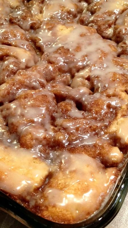 Cinnamon Bun Cake Recipe ~ A delicious homemade dessert doesn't take hours at kitchen to make.