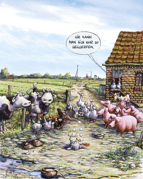 bauernhof  marunde  cartoons  illustrationen von wolf