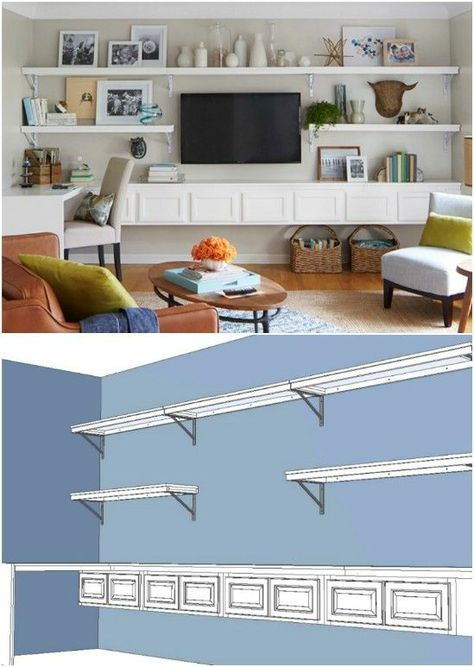 52 Ideas For Wall Decor Living Room Around Tv Mounted Tv Living