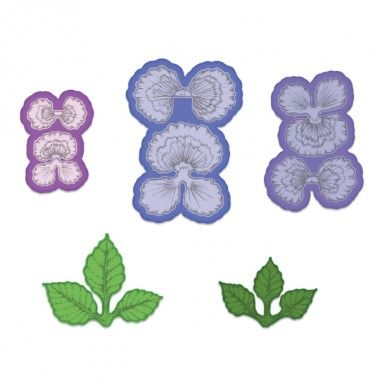 Cheery Pansy Die 29 99 When Paired With The Coordinating Cling Stamp Set And Dimensional Shaping Mold These Bea Heartfelt Creations Pansies Flowers Pansies