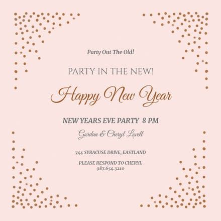 Free Printable New Year S Eve Invitation Templates Greetings Island Newyear Newyeareve N New Years Eve Invitations Invitation Template Free New Year Cards