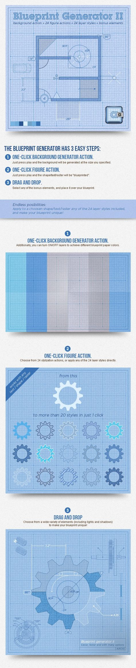Blueprint Generator II: Action + Layer Styles