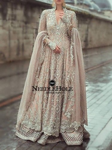 Desert sand long wedding gown lehenga dupatta suit in Florida USA.This Indian Pakistani wedding dress with prices Pakistani designer bridal gown with price