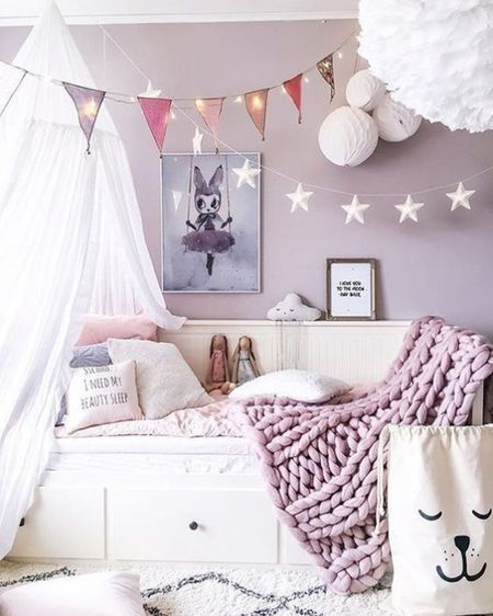 Discover 15 No Fail Paint Color Ideas For Your Little Girl S Room Grey Girls Rooms Purple Bedrooms Bedroom
