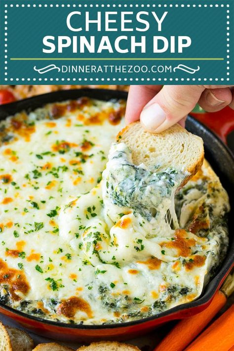 Spinach dip recipe cheese dip hot dip dip spinach cheese appetizer lowcarb keto dinneratthezoo cheese hot spinach and artichoke dip in a bread bowl spend with pennies Creamy Spinach Dip, Spinach And Cheese, Baked Spinach Dip, Recipe For Spinach Dip, Hot Artichoke Spinach Dip, Hot Dip Recipe, Spinach Dinner Recipes, Homemade Spinach Dip, Healthy Spinach Dip